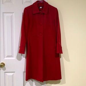 JCREW Red Long Coat